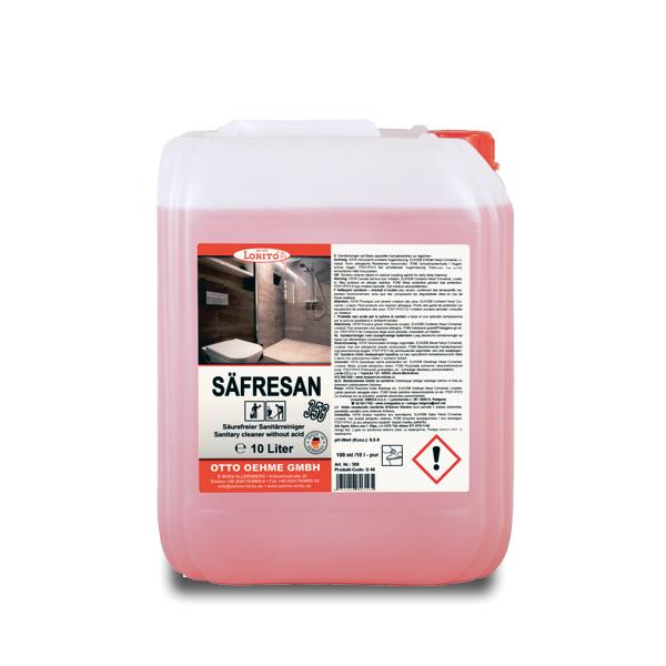 Čistilo za na kisline občutljive površine Safresan