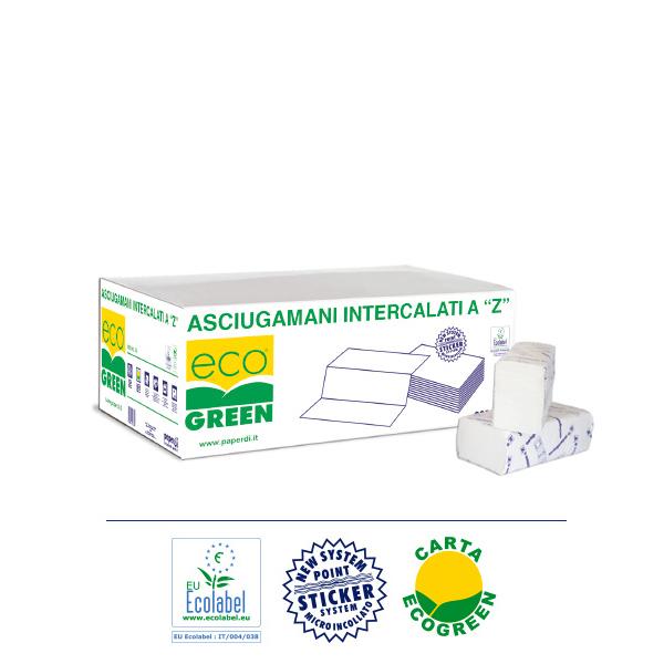 Brisače Z zložene Ecogreen Ecolabel
