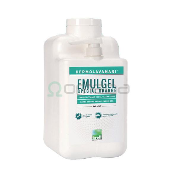 Industrijsko milo - gel za roke za izjemno umazane roke z negovalnimi sestavinami Krol Emulgel Orange