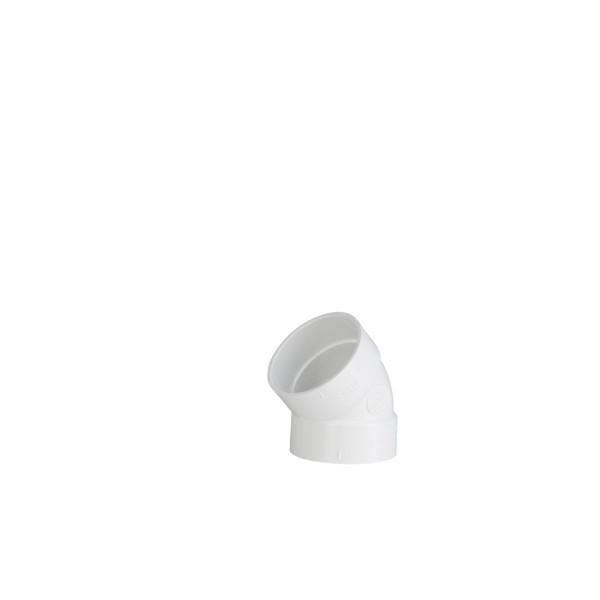 Koleno PVC 45 ŽŽ za centralni sesalni sistem