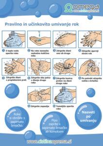 Navodila za umivanje rok OMEGA