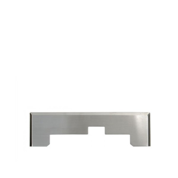 Okrasni okvir INOX za kuhinjsko šobo - smetišnico srebrno
