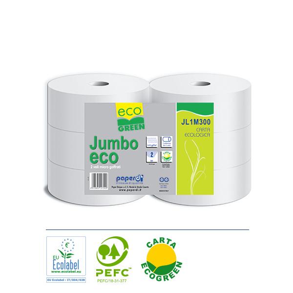 Rolice Paperdi Jumbo Maxi Ekocel 2-slojne