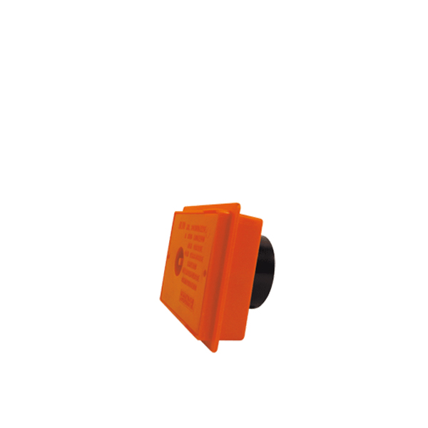 Doza podometna PVC pravokotna za centralni sesalni sistem