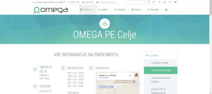 Spletna stran - zavihek poslovalnica