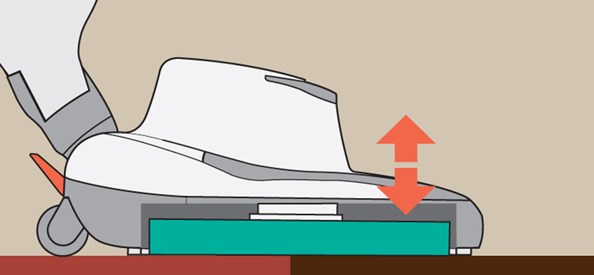 SEBO Dart 3 - avtomatska nastavljivost višine polirne glave