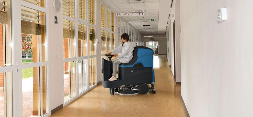 Čistilni stroj FIMAP Mr volanski_uporaba v bolnišnici