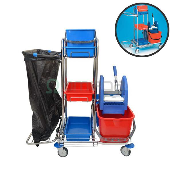 Večnamenski čistilni voziček OMEGA Chrome Jooky