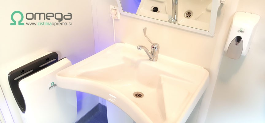 Oprema za sanitarije - sušilec za roke Tifon-Milnik Omega Classic