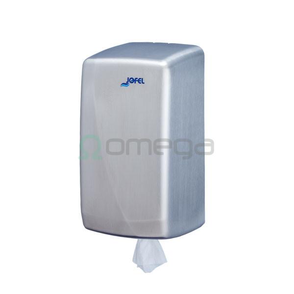 Podajalnik papirnatih brisač AZUR centralni izvlek Mini 130 mm inox saten AG35000