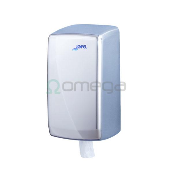 Podajalnik papirnatih brisač AZUR centralni izvlek Mini 130 mm inox sijaj AG35500