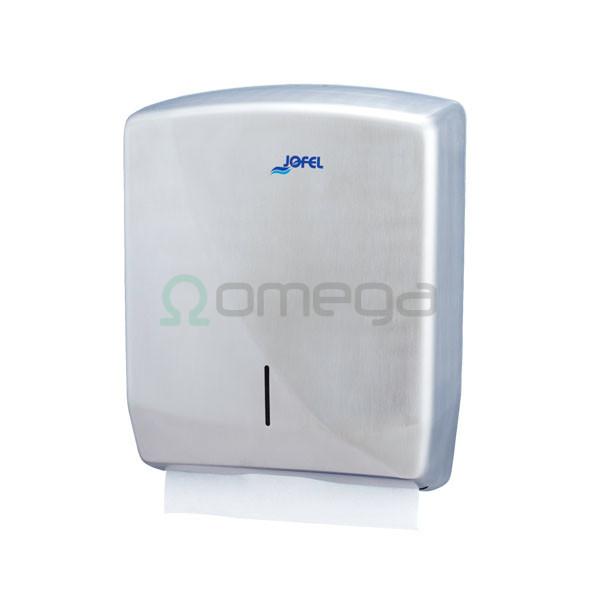 Podajalnik papirnatih zloženk FUTURA INOX SATEN AH25000