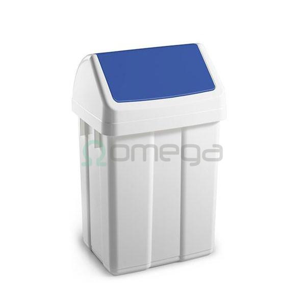 Koš za smeti FILMOP PATTY za recikliranje nihajni moder z vpenjalom