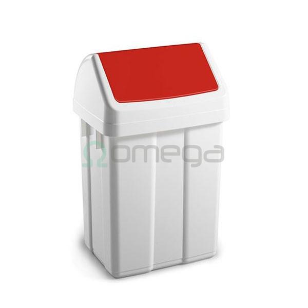 Koš za smeti FILMOP PATTY za recikliranje nihajni rdec z vpenjalom