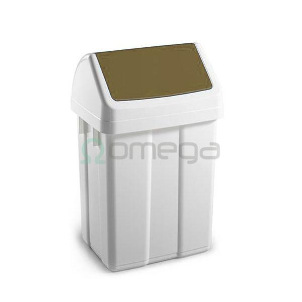 Koš za smeti FILMOP PATTY za recikliranje nihajni rjav z vpenjalom