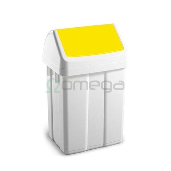 Koš za smeti FILMOP PATTY za recikliranje nihajni rumen z vpenjalom
