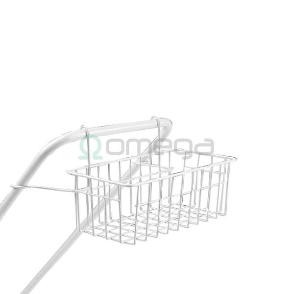 Košara kovinska za čistilni voziček z rilsan prevleko R8218 - za 8061 za fi18