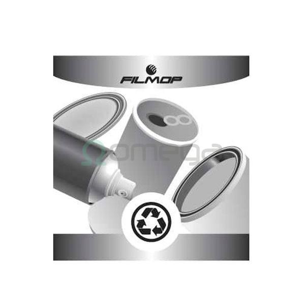 Nalepka za koš FILMOP za recikliranje - kovinska embalaža