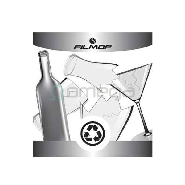 Nalepka za koš FILMOP za recikliranje - steklo
