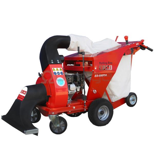 Sesalnik in drobilnik listja ERCO ES-660PIA bencinski z vozickom