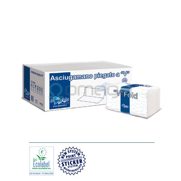 Papir Paperdi brisače V zložene 2 slojne čista celuloza