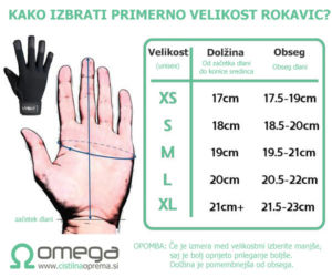 Dimezije rokavic - kako izbrati pravo velikost?