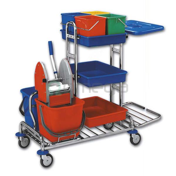 Čistilni voziček OMEGA Maxi kromiran večnamenski