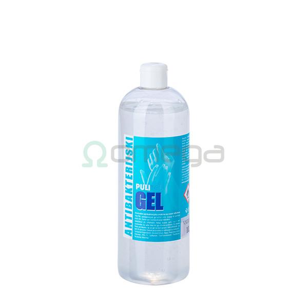 Antimikrobni gel za razkuževanje rok PULI 1 liter z negovalnimi sestavinami