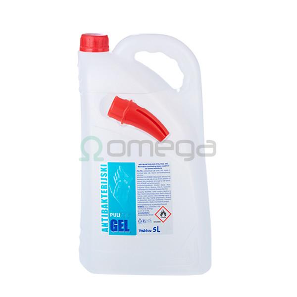 Antimikrobni gel za razkuževanje rok PULI 5 l z negovalnim učinkom