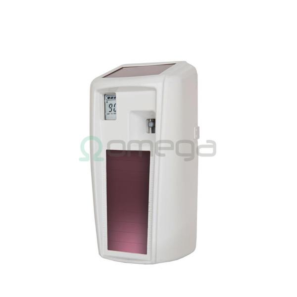 Dozator dišav Rubbermaid Microburst 3000 LumeCel LCD s solarnimi celicami bel