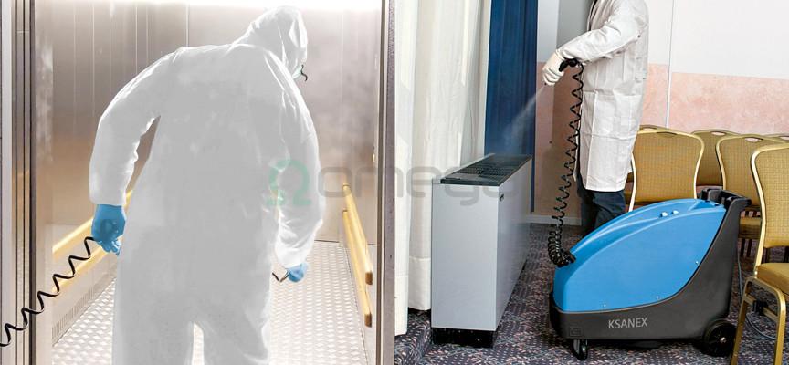 Stroj za dezinfekcijo FIMAP Ksanex_ dvigala in prezracevalne naprave