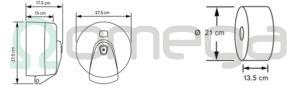 Podajalnik OMEGA SMART ONE za toaletne rolice centralni izvlek