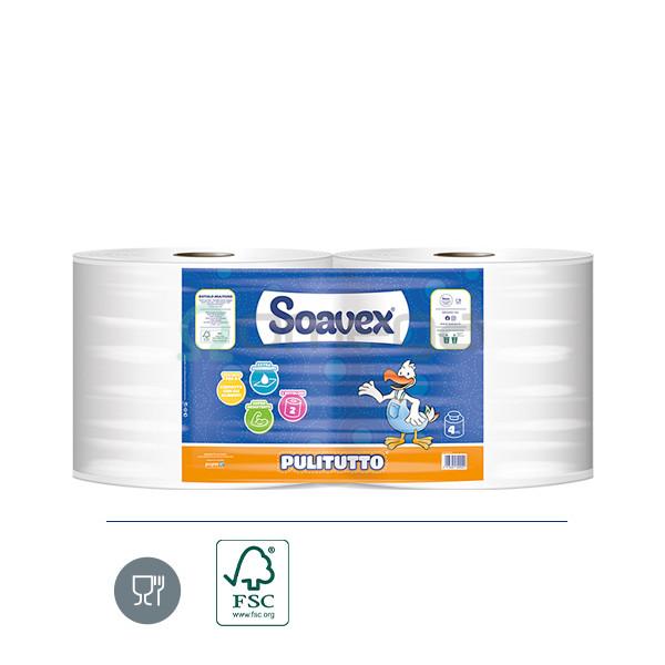 Papirnate brisače industrijske OMEGA 2-slojne 1000L PULITUTTO