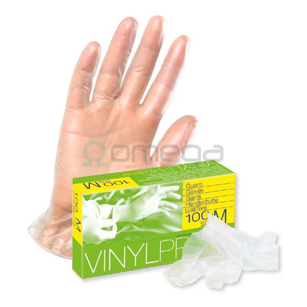 Rokavice za enkratno uporabo Vinyl PRO prozorne