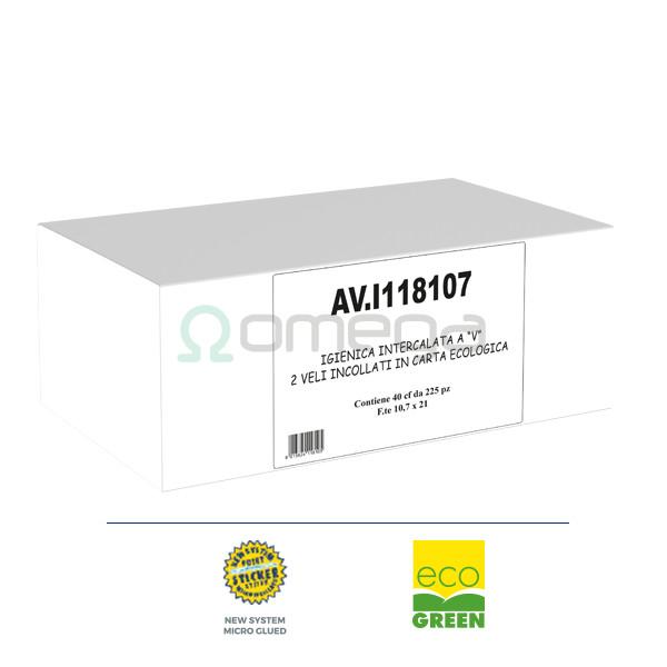 Toaletni papir lističi zloženi paperdi OMEGA ekoceluloza - ecogreen
