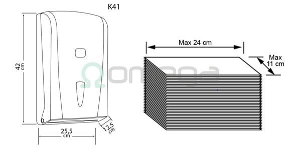 Podajalnik za zložene brisače 600 - shema