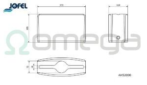 Namizni podajalnik serviet in brisač ah52000_1